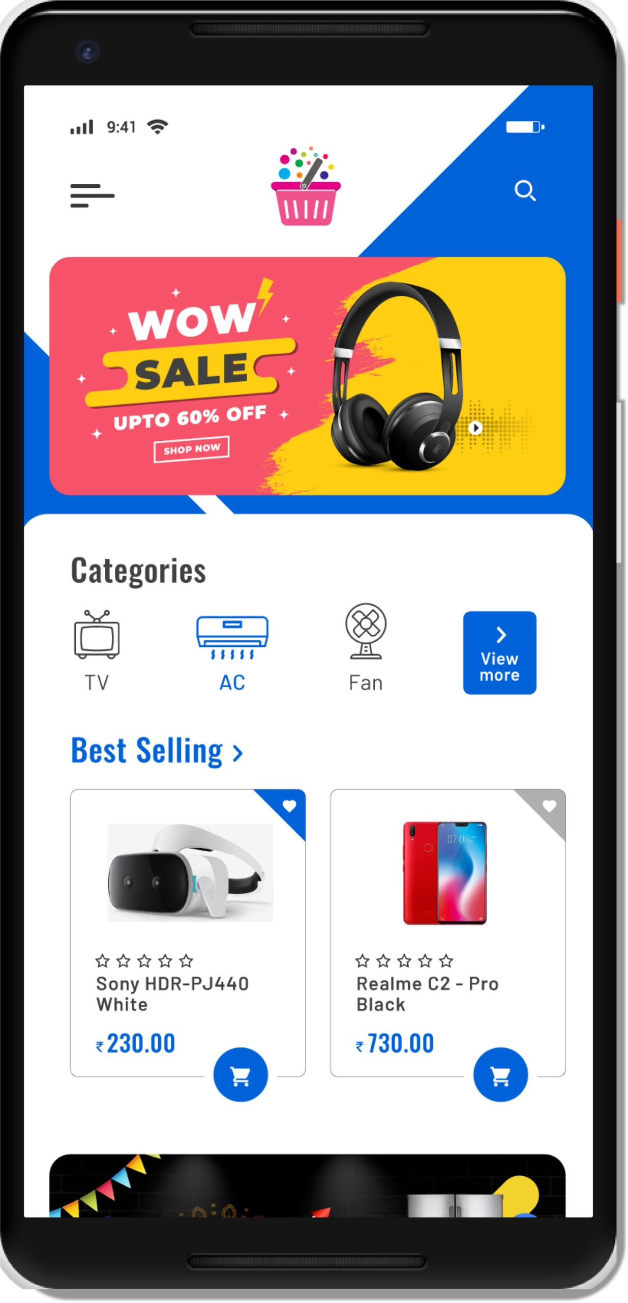 Electric store app